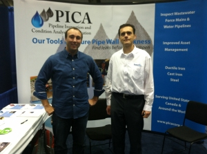 Chris and Csaba Ekes at the PICA booth.